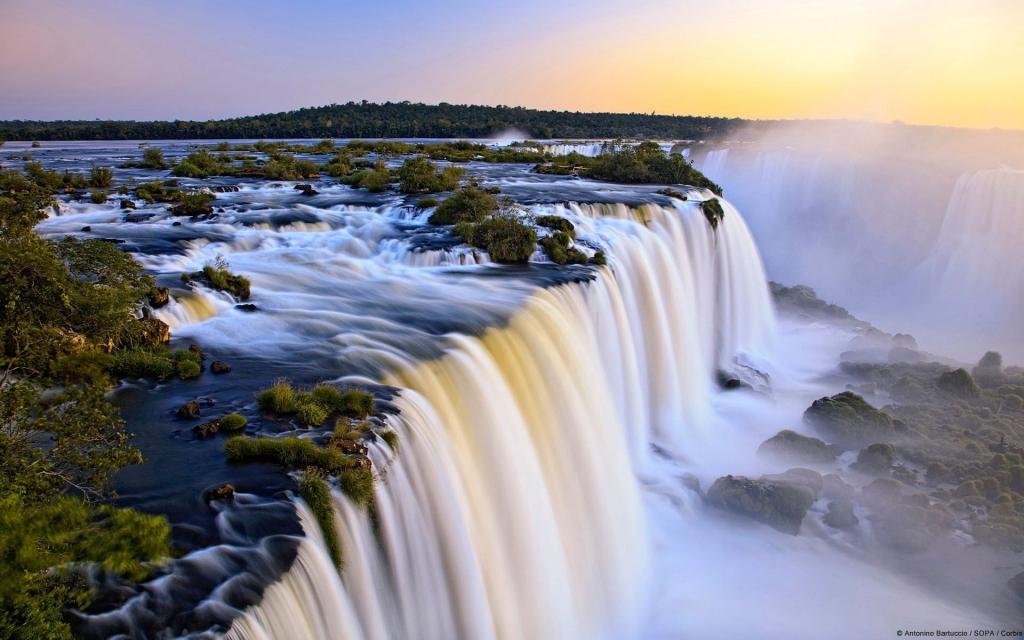 Iguazu Falls - The Natural Border between Argentina & Brazil