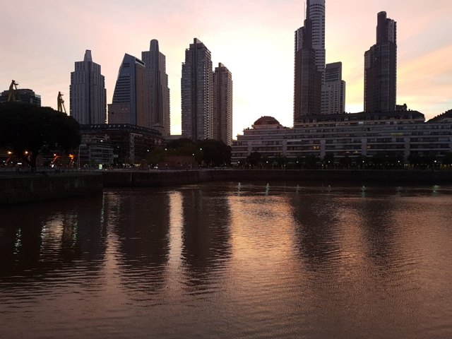 Late Dusk in Puerto Madero