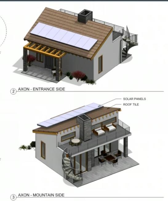 Initial rendering of tiny home at Gran Vineyard Estates. Rendering subject to changE